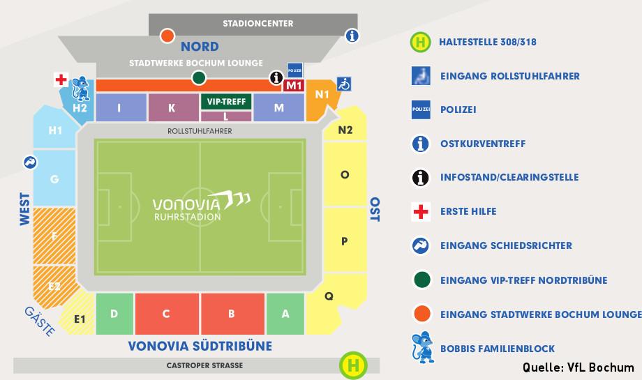 Dynamo Dresden Stadionplan